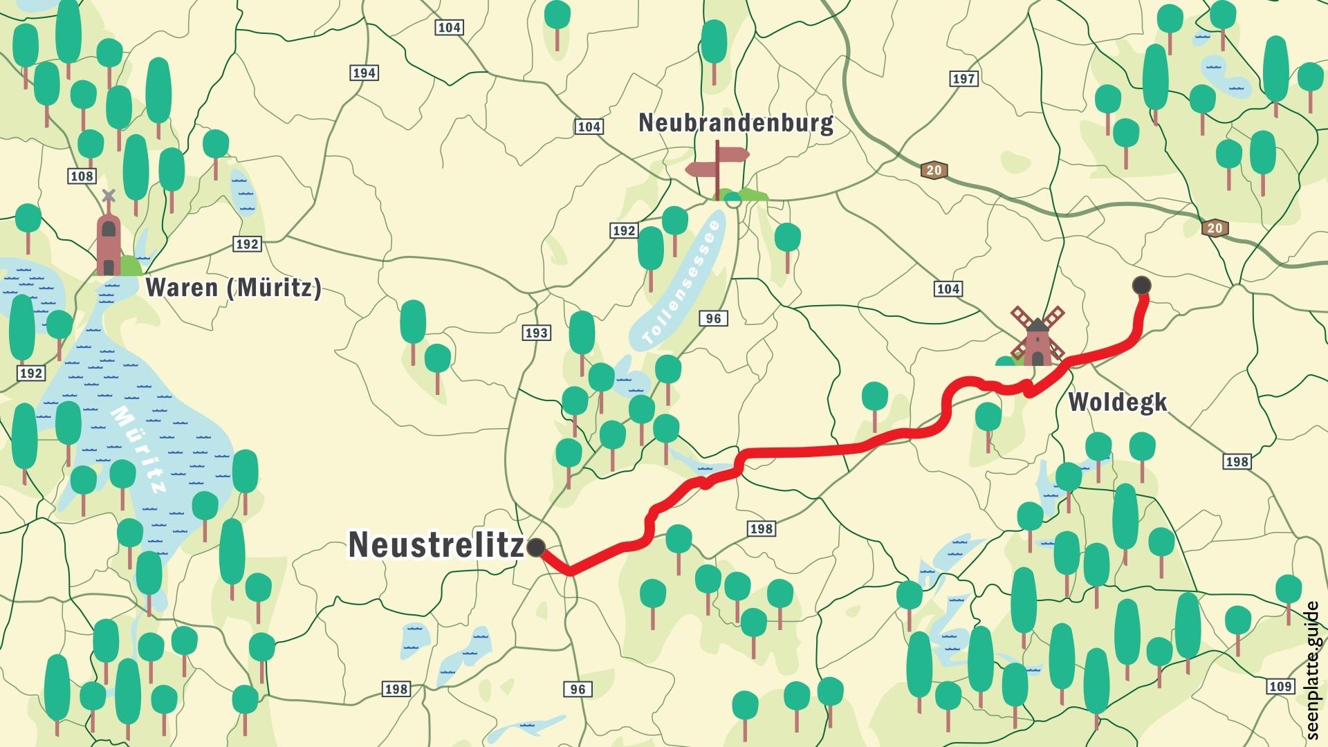 Eisenbahnweg in Mecklenburg-Vorpommern